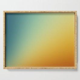 Gradient Colours: Orange Blue Serving Tray