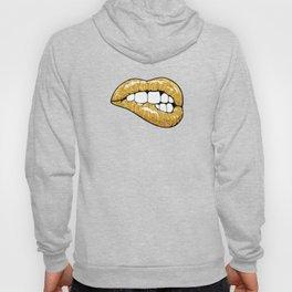 Gold glitter lips Hoody