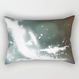 abstract background with highlights Rectangular Pillow