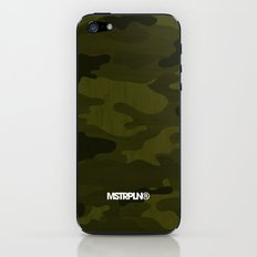 Modern Woodgrain Camouflage / Greenwoods DPM iPhone & iPod Skin