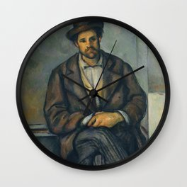 Paul Cézanne - Seated Peasant (1892–96) Wall Clock