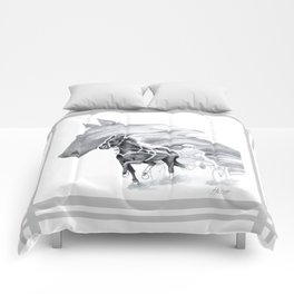 Trotting Up A Storm Comforters