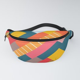 Colorful blocks Fanny Pack