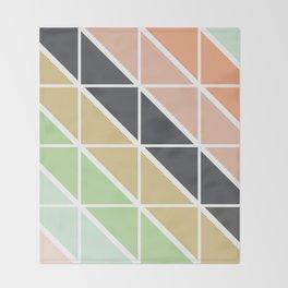 Retro Geometric Triangle Pattern Throw Blanket