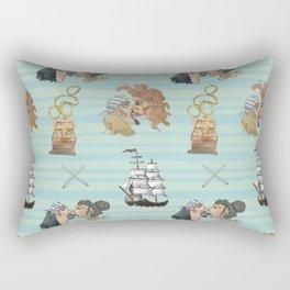 Celebration on Board - Aqua Rectangular Pillow