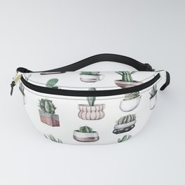 Cactus + Succulents Rose Gold Pattern by Nature Magick Fanny Pack