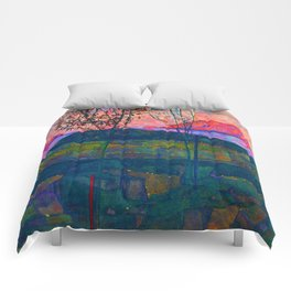 Egon Schiele Setting Sun Comforters