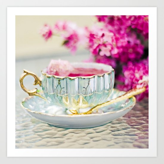 TEA CUP DELIGHT Art Print