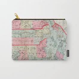 Vintage Map of Rhode Island (1887) Carry-All Pouch
