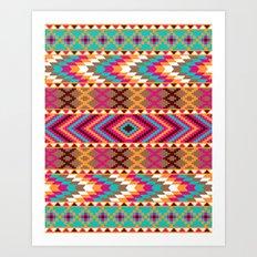 Colorful Tribal Pattern Art Print