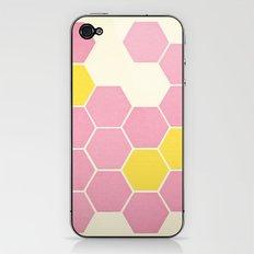 Pink Honeycomb iPhone & iPod Skin