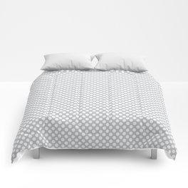 Glacier Gray and White Polka Dots Comforters