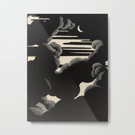 Félix Vallotton Wolken, 1890 Midnight Moon Night Clouds Metal Print