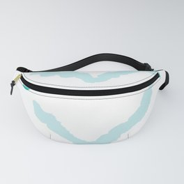 Two Tone Turquoise Broken Heart Series Fanny Pack