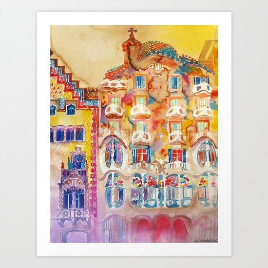 Casa Batllo Art Print