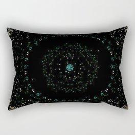 Pixel Dust Black Mandala Rectangular Pillow