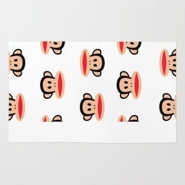 Julius Monkey Pattern by Paul Frank - White  Rug