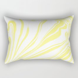 Yellow Marble Ink Watercolor Rectangular Pillow