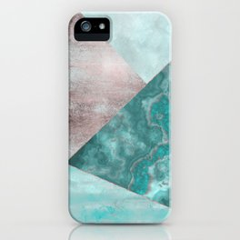 Gemstone And Geode Triangles iPhone Case