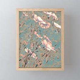 Flax silver Framed Mini Art Print