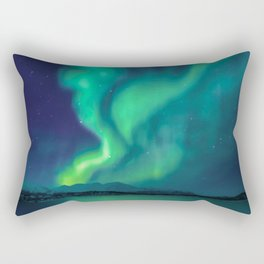 Aurora Borealis Lights Up the Sky (Northern Lights) Rectangular Pillow