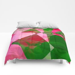 Pink Roses in Anzures 1 Abstract Polygons 2 Comforters