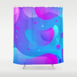 80s 90s Memphis Retro Pattern #5 Shower Curtain