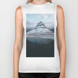 Iceland Mountain Reflection - Landscape Photography Biker Tank