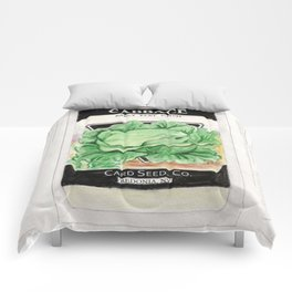 Cabbage Seed Packet Comforters