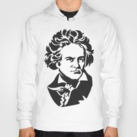beethoven Hoodies featuring Beethoven by b & c