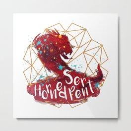 Horned Serpent Metal Print