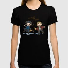 BBC Sherlock - Clueing for Looks Black Womens Fitted Tee LARGE
