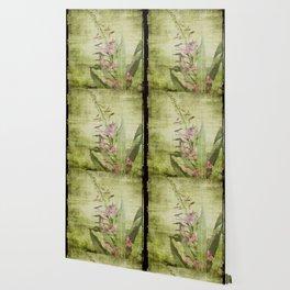 Decorative Green Floral Wallpaper