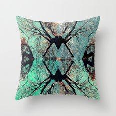 autumn tree-vessel pattern Throw Pillow