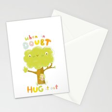 When in doubt, Hug it out Stationery Cards