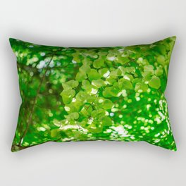 sun behind leaf Rectangular Pillow