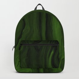 Marblesque Green and Black - Abstract Marble Art Series Backpack