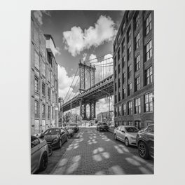 NEW YORK CITY Manhattan Bridge Poster