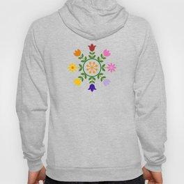 Scandinavian Style Colorful Flowers Wheel Hoody