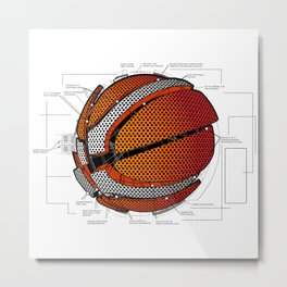 Anatomy of a Basketball. Metal Print