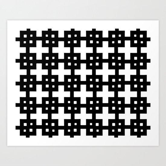 Telder Black & White Art Print