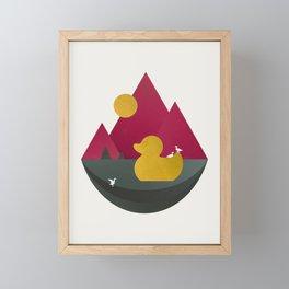 Duck Dance Framed Mini Art Print