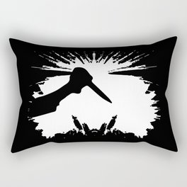 Slashing Knife In Hand Rectangular Pillow