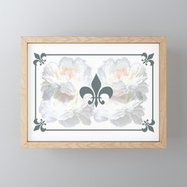 Floral And Structure Framed Mini Art Print