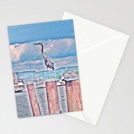 Vintage Great Blue Heron Stationery Cards