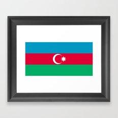 Flag Of Azerbaijan  Framed Art Print