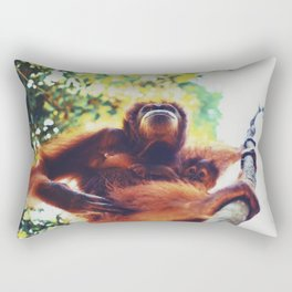Orangutans Rectangular Pillow