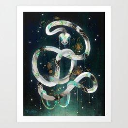 The Rainbow Serpent Art Print