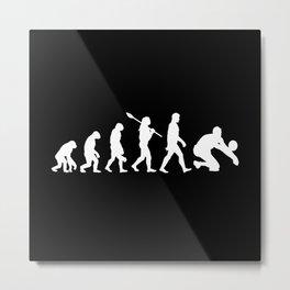 Volleyball Player Evolution Beach Design Motif Metal Print