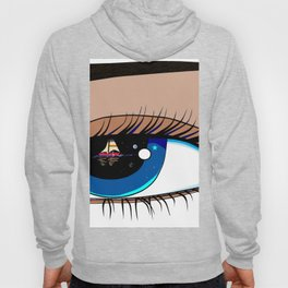 The Eye looking out at the Water at a Boat Hoody